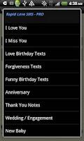 Screenshot of Rapid Love SMS - PRO