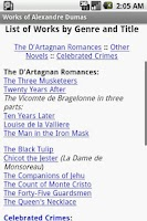 Screenshot of Works of Alexandre Dumas
