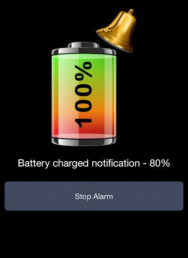Battery 100% Alarm - screenshot
