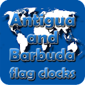 Antigua and Barbuda flag clock icon
