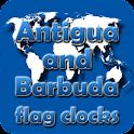 Antigua and Barbuda flag clock