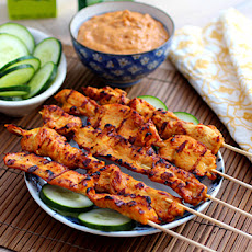 Thai Chicken Sate with Peanut Sauce