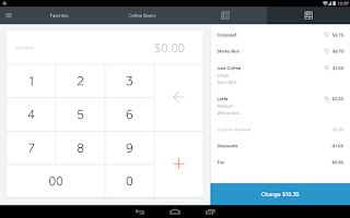 Screenshot of Square Register