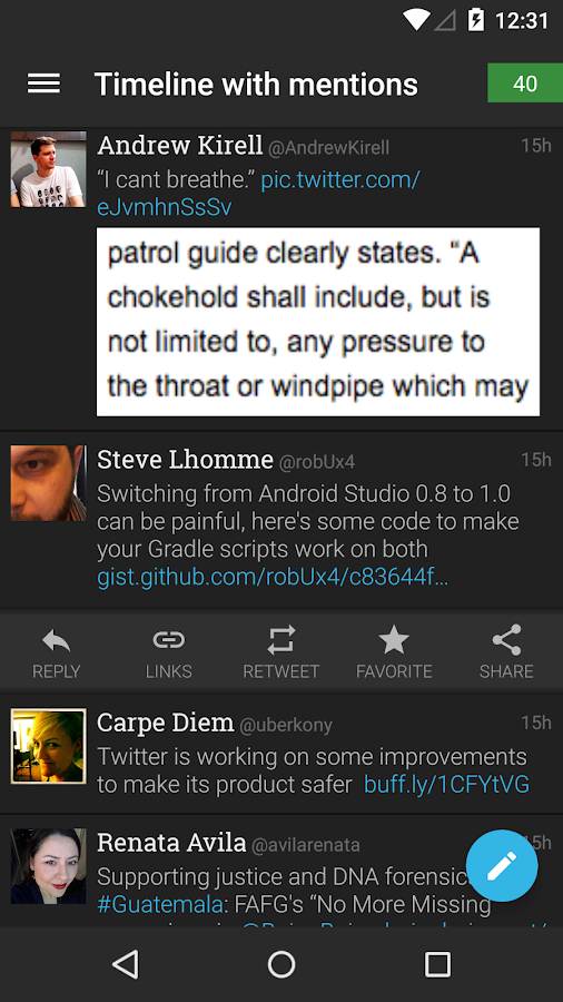 Plume for Twitter Screenshot 3
