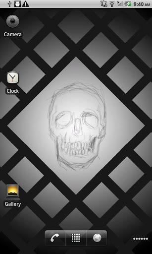 Skull Sketch Live Wallpaper