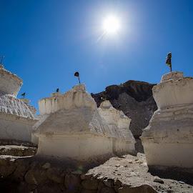 Buddhist Gompas by Rishabh Asthana - Landscapes Travel ( skyline, gompa, buddhist, landscape, sun )