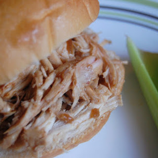 Crock Pot Shredded Chicken with Onion Soup & Italian Dressing Sandwiches