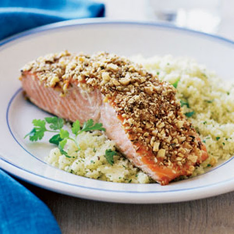 Almond and Spice-crusted Grilled Salmon