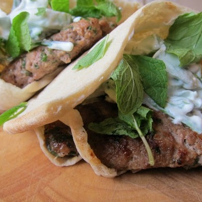 Lamb Burger with Chunky Mint Tzatziki
