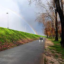 in front of rainbow by Dubravka Penzić - Landscapes Weather
