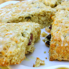 Cranberry Orange Oatmeal Scones