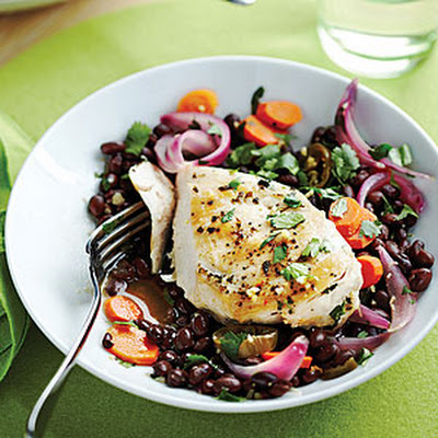 Chicken Escabeche with Cilantro Black Beans