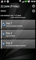 Screenshot of Gym Book: training notebook*