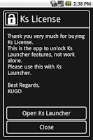 Screenshot of Ks License