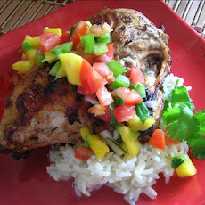 Jerk Chicken (Bbq'd) With Mango Salsa