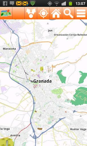 Granada Offline mappa Map