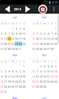Screenshot of TW Event Calendar 2015