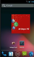Screenshot of The Christmas Countdown Widget