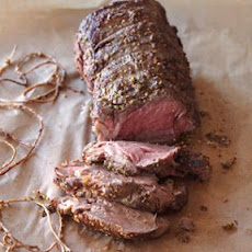 Roasted Beef Tenderloin with Mushroom Ragout