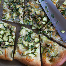 Zucchini Pizza with Olive Vinaigrette