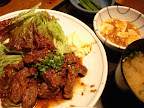 【渋谷ランチ】牛肉のサイコロステーキ(ほの字)
