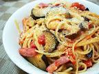 【自炊】茄子とベーコンのトマトソースパスタ