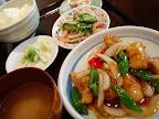 【渋谷ランチ】白身魚のピロ辛野菜炒め(てんてん)