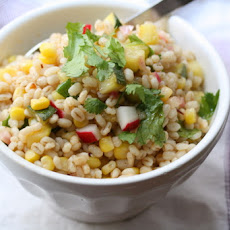 Chipotle Barley Salad with Corn, Zucchini, and Radishes