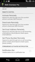 Screenshot of SMS Diversion Pro
