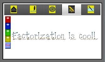 Screenshot of Factorization, GCF and LCM