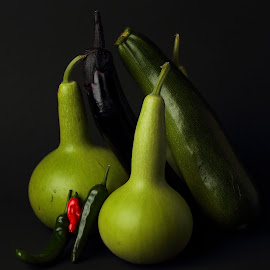 Veggies by Sanjib Paul - Food & Drink Fruits & Vegetables ( gourd, zucchini, green, vegetables, chilli )