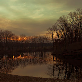Spring time in Michigan by Gary Poulsen - Novices Only Landscapes ( lake, sunrise, spring )