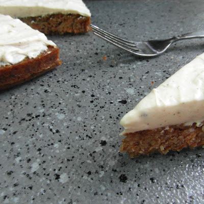 Flourless Carrot Cake (with Nutmeg Cream Cheese Frosting)