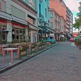 Ladadika by Stratos Lales - City,  Street & Park  Street Scenes ( market, street, tavern, bar, morning )