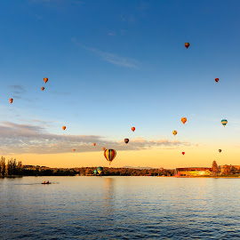 Balloons in the sky by Edward Luong - News & Events Entertainment