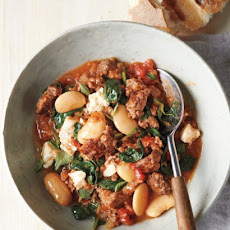Lamb and Bulgur Stew with White Beans