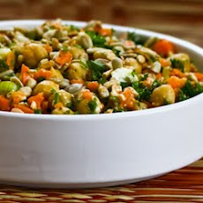 Carrot, Parsley, and Garbanzo (Chickpea) Salad with Feta and Cumin