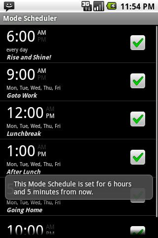 Volume Mode Scheduler