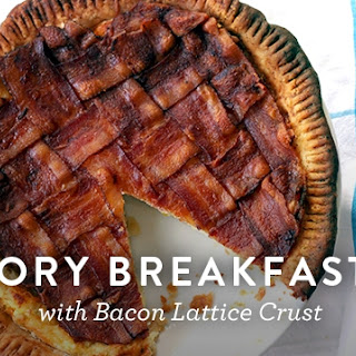 Savory Breakfast Pie with Bacon Lattice Crust