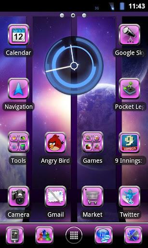 Purple Glass Go Launcher Theme