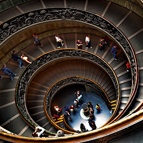 circle around by Abhinav Ganorkar - Buildings & Architecture Other Interior ( stairs, stairway, staircase, vatican, chapel,  )