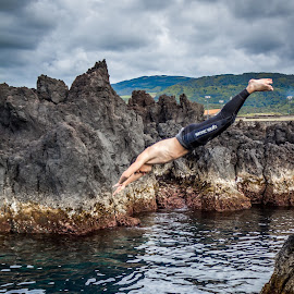 Diving by Samuk Domingues - Sports & Fitness Watersports ( water, sport, diving, man, jump )