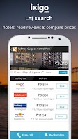 Screenshot of ixigo flights hotels packages