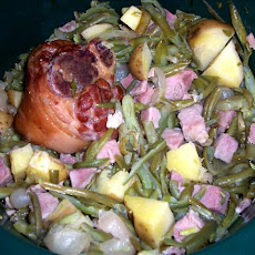 Ham, Green Beans, & Potatoes in the Crock Pot