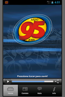 Screenshot of Rádio 95 FM
