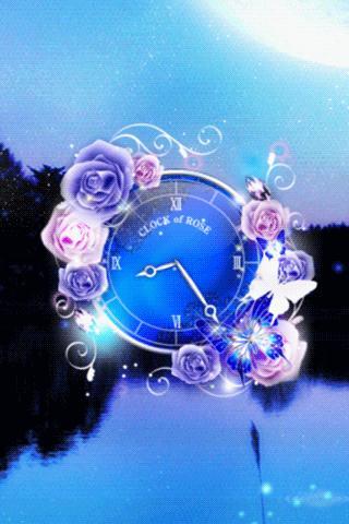 クリスタルローズ 時計ウィジェット