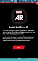 Screenshot of Marvel AR
