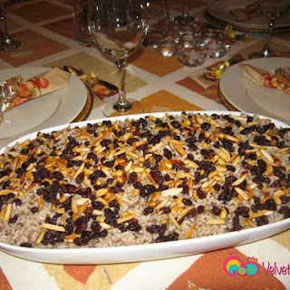 Rice Pilaf with Meat, Nuts