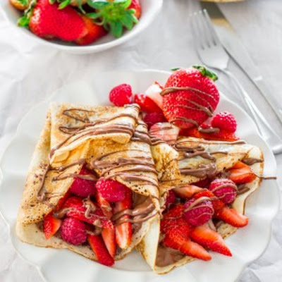 Nutella Berry Crepes