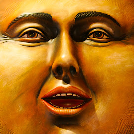Jolly Jed by Mike O'Connor - Artistic Objects Other Objects ( faces, happy, fat, smile, eyes )